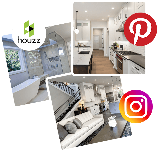 Houzz Instagram and Pinterest inspiration for home remodels